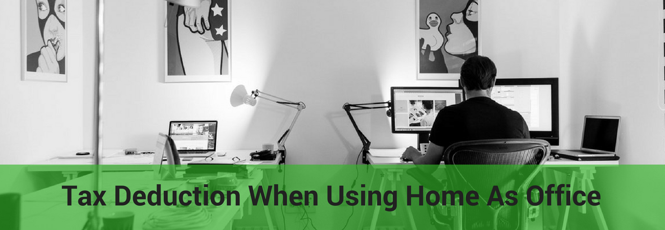 how are taxes deducted when using home as an office