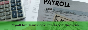 what is a payroll tax resolution
