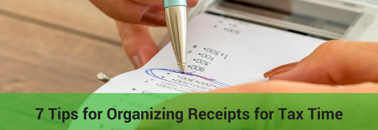 organize receipts for tax time